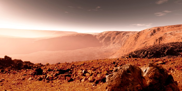 Mars surface close to equator